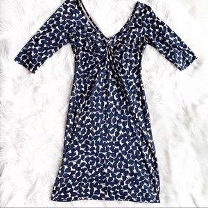 DVF Diane Von Furstenberg Silk Pattern Dress